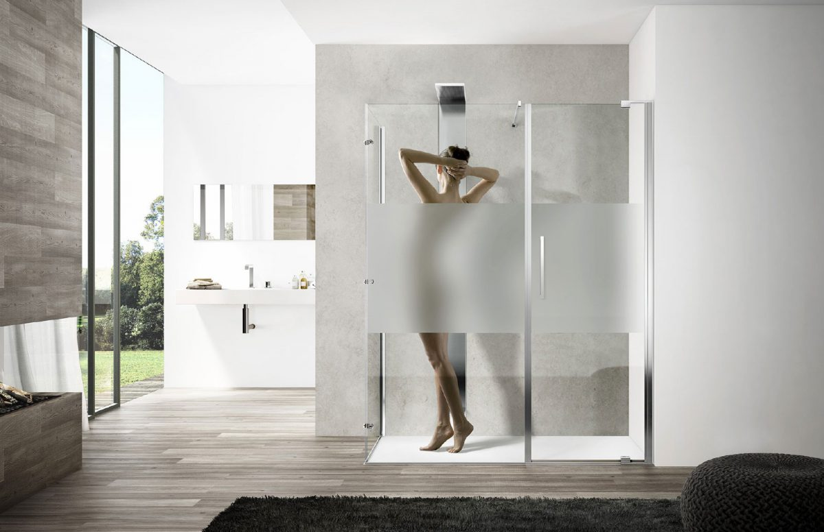 Slim designer shower disenia - Box doccia design minimale ...