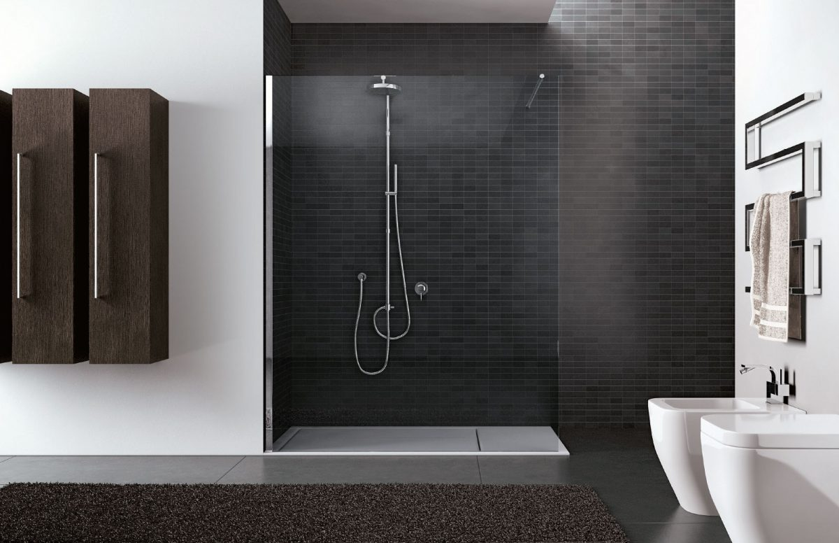 Walk in frameless shower enclosure disenia - Box doccia design minimale ...