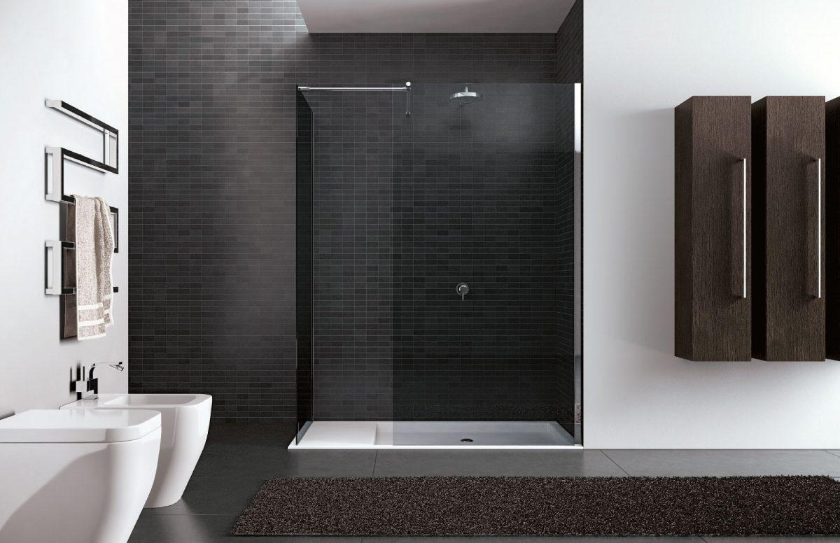 Walk in frameless shower enclosure disenia - Box doccia senza silicone ...