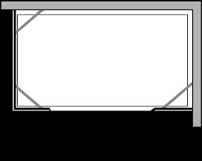 CN2F + CNPL : Hinged door, 2 fixed side panels (modular)