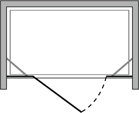 CNPL + CNFL : Hinged door, fixed side panel (in line)