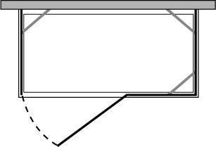 CNPOX + CNFI : 2 fixed side panels with door and fixed side (corner)
