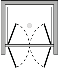FR2P : Double hinged door (alcove)