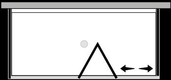 FRSFL + FRFIX2 : Bi-fold door, fixed panel, 2 fixed side panels (corner)