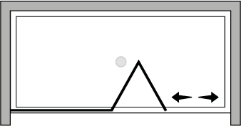 FRSFL : Bi-fold door, fixed panel (alcove)