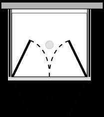 LB2P + LKFIX2 : Double hinged door, 2 fixed side panels (corner)