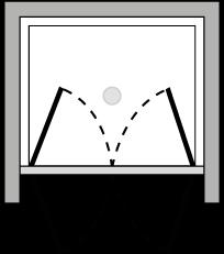 LB2P : Double hinged door (alcove)