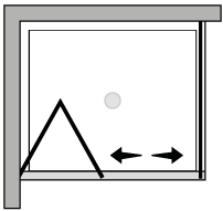 LKSF + LKFI : Bi-fold door, fixed side panel (corner)