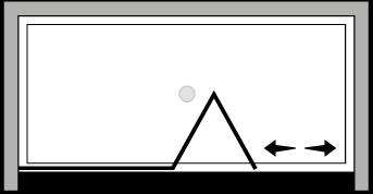 LKSFL : Bi-fold door, fixed panel (alcove)