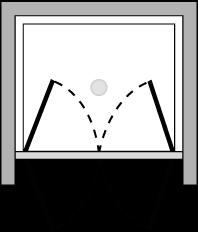 OM2P : Double hinged door (alcove)
