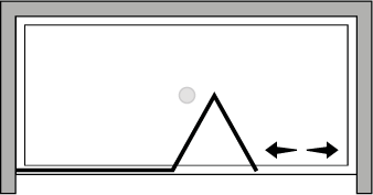 QUSFL : Bi-fold door, fixed panel (alcove)