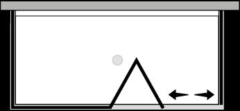 QUSFL + QUFIX2 : Bi-fold door, fixed panel, 2 fixed side panels (corner)