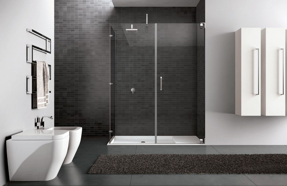 Hand - Glass shower enclosure - Disenia