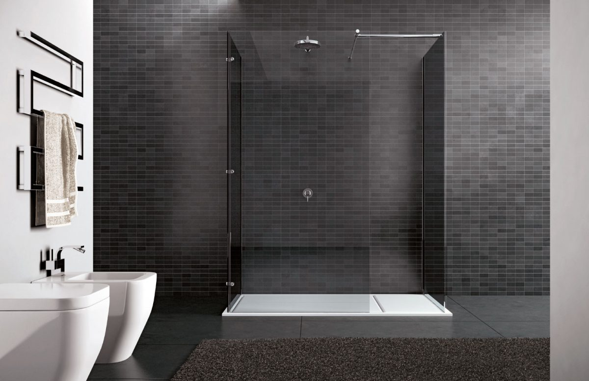 Walk-in - Frameless shower enclosure - Disenia