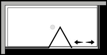 LKSFL + LKFI : Bi-fold door, fixed panel, fixed side panel (corner)