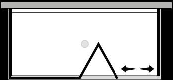 LKSFL + LKFIX2 : Bi-fold door, fixed panel, 2 fixed side panels (corner)