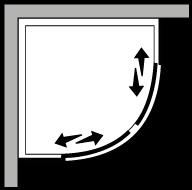 LSSC : Quadrant, with 2 sliding doors (modular)
