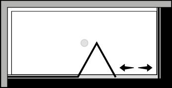 QUSFL + QUFI : Bi-fold door, fixed panel, fixed side panel (corner)